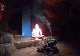 sadhu in a cave